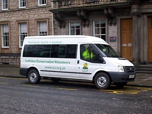 Our minibus at St Andrew Square